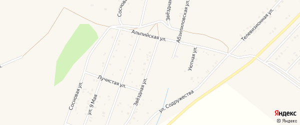 Звездная улица на карте Учалы с номерами домов