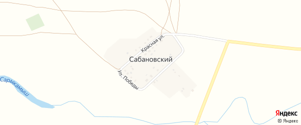 СНТ Ремонтник на карте Сабановского поселка с номерами домов