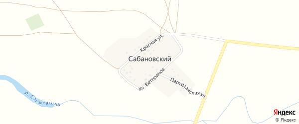 Партизанская улица на карте Сабановского поселка с номерами домов