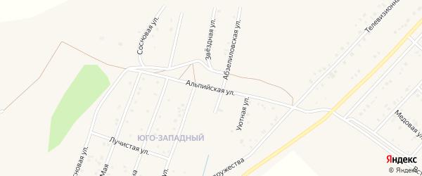 Альпийская улица на карте Учалы с номерами домов