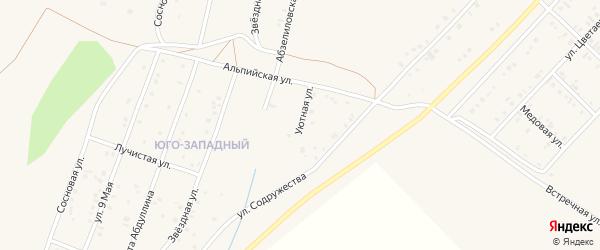 Уютная улица на карте Учалы с номерами домов