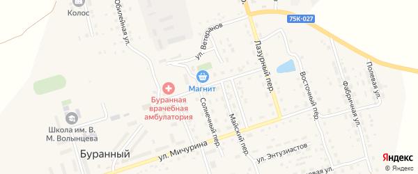 Улица Волынцева на карте Буранного поселка с номерами домов
