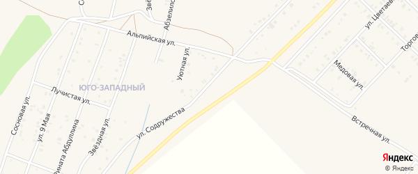Улица Содружества на карте Учалы с номерами домов