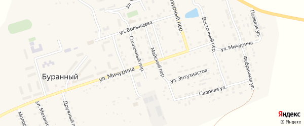 Улица Мичурина на карте Буранного поселка с номерами домов