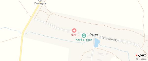 Молодежная улица на карте деревни Урала с номерами домов