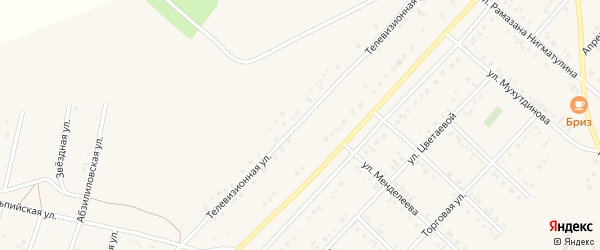 Телевизионная улица на карте Учалы с номерами домов