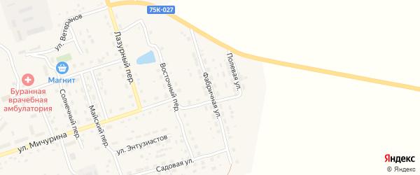 Фабричная улица на карте Буранного поселка с номерами домов