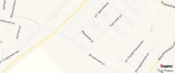Медовая улица на карте Учалы с номерами домов