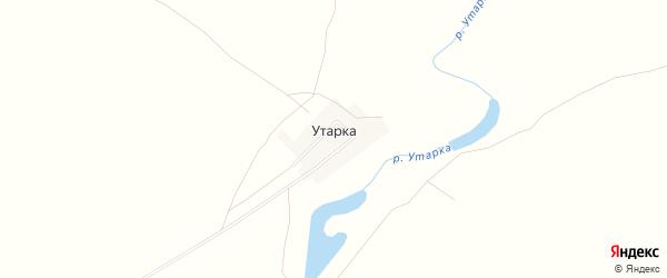 Карта поселка Утарки в Челябинской области с улицами и номерами домов