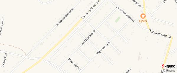 Улица Марины Цветаевой на карте Учалы с номерами домов