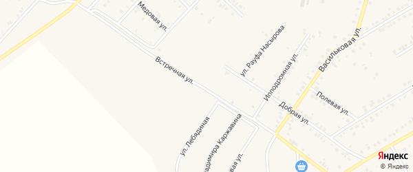 Встречная улица на карте Учалы с номерами домов