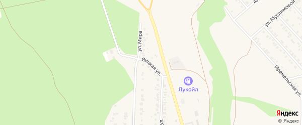 Яицкая улица на карте Учалы с номерами домов