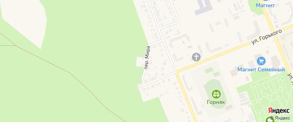 Переулок Мира на карте Учалы с номерами домов