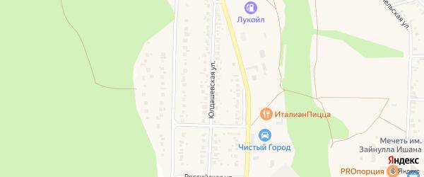 Юлдашевская улица на карте Учалы с номерами домов