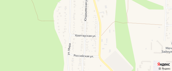 Уралтауская улица на карте Учалы с номерами домов