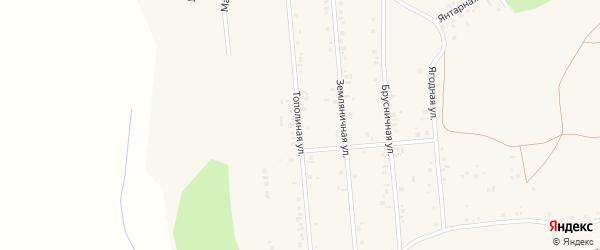 Тополиная улица на карте Учалы с номерами домов