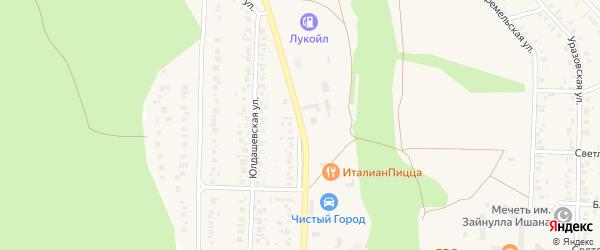 Кунакбаевская улица на карте Учалы с номерами домов
