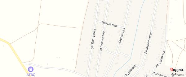Улица Пастухова на карте Межозерного поселка с номерами домов