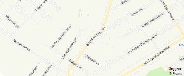 Васильковая улица на карте Учалы с номерами домов