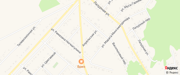 Апрельская улица на карте Учалы с номерами домов