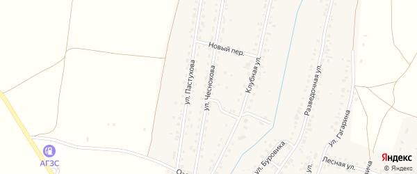Улица Чеснокова на карте Межозерного поселка с номерами домов