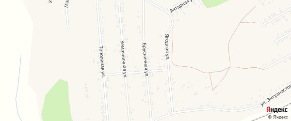 Брусничная улица на карте Учалы с номерами домов