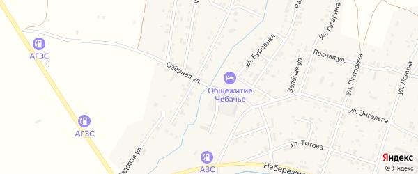 Озерная улица на карте Межозерного поселка с номерами домов