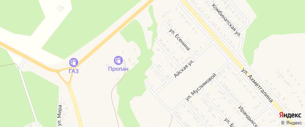 Улица Братьев Закировых на карте Учалы с номерами домов
