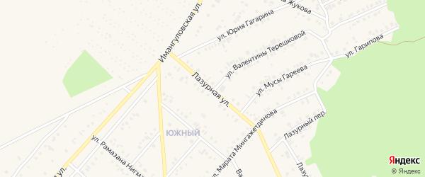 Лазурная улица на карте Учалы с номерами домов