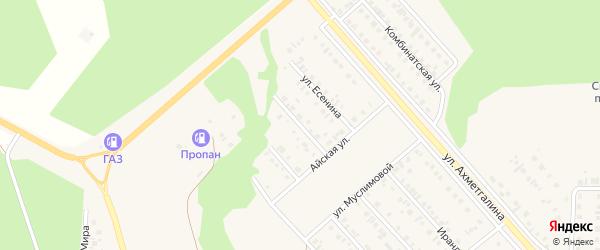 Рябиновая улица на карте Учалы с номерами домов