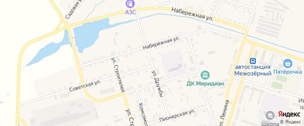 Улица Дружбы на карте Межозерного поселка с номерами домов