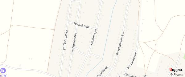 Клубная улица на карте Межозерного поселка с номерами домов
