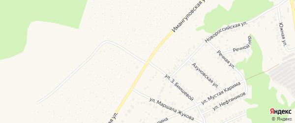 Имангуловская улица на карте Учалы с номерами домов