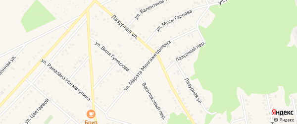 Улица Марата Мингажетдинова на карте Учалы с номерами домов