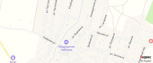 Улица Буровика на карте Межозерного поселка с номерами домов