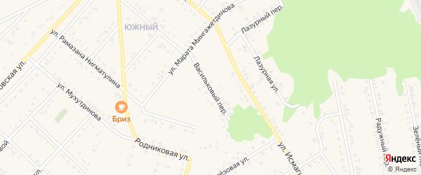 Васильковый переулок на карте Учалы с номерами домов