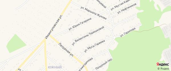 Улица В.Терешковой на карте Учалы с номерами домов