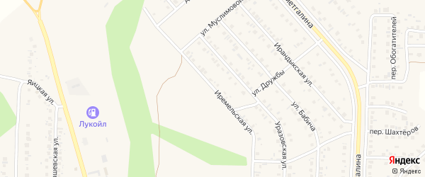 Иремельская улица на карте Учалы с номерами домов