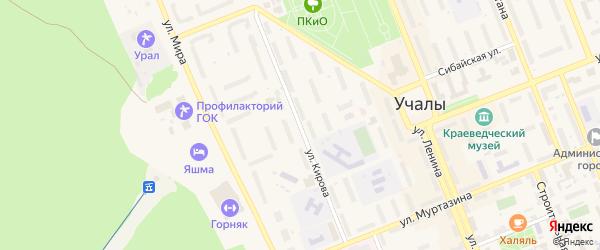 Улица Кирова на карте Учалы с номерами домов