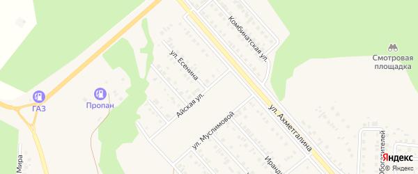 Айская улица на карте Учалы с номерами домов