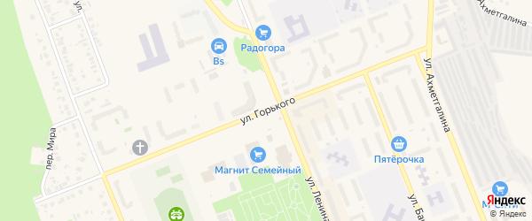 Улица Горького на карте Учалы с номерами домов