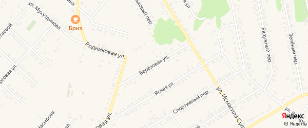 Березовая улица на карте Учалы с номерами домов