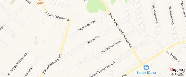 Ясная улица на карте Учалы с номерами домов