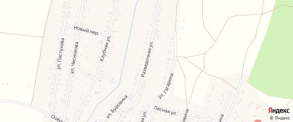 Разведочная улица на карте Межозерного поселка с номерами домов