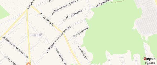 Лазурный переулок на карте Учалы с номерами домов