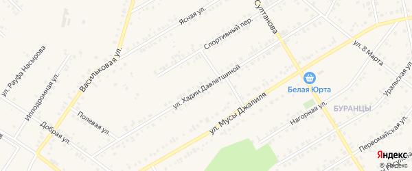 Улица Х.Давлетшиной на карте Учалы с номерами домов