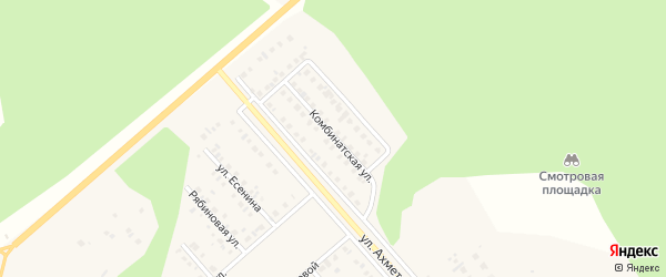 Комбинатская улица на карте Учалы с номерами домов