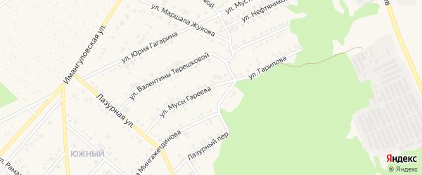 Улица Мусы Гареева на карте Учалы с номерами домов