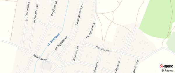 Улица Гагарина на карте Межозерного поселка с номерами домов