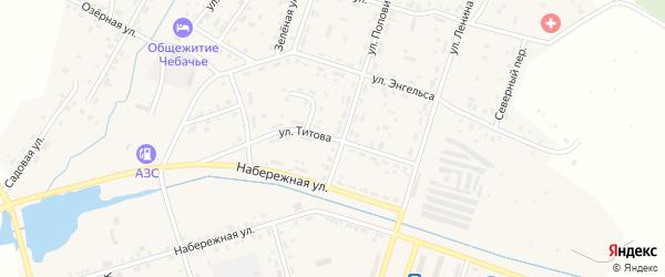 Улица Титова на карте Межозерного поселка с номерами домов